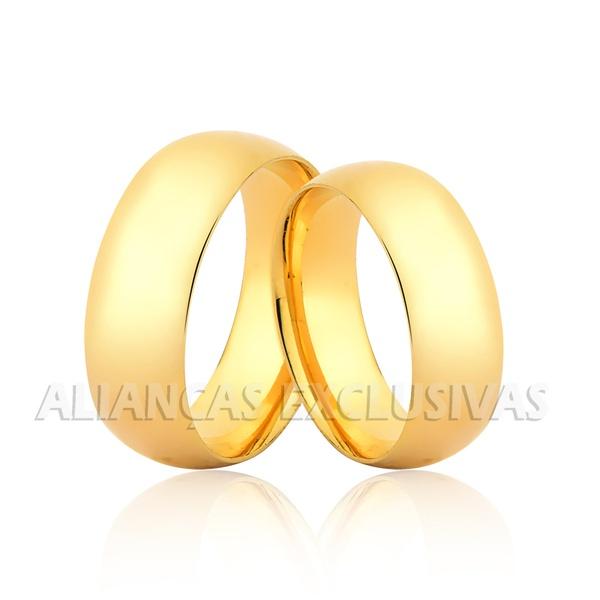 Par de Aliança Tradicional em Ouro 18k