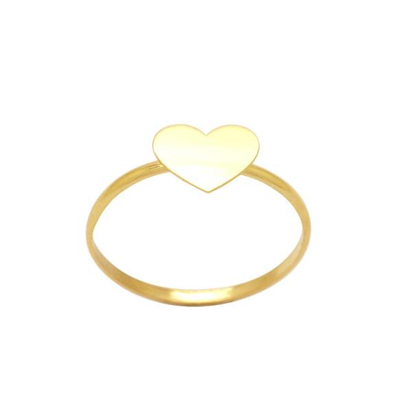 Anel Coração em Ouro 18k