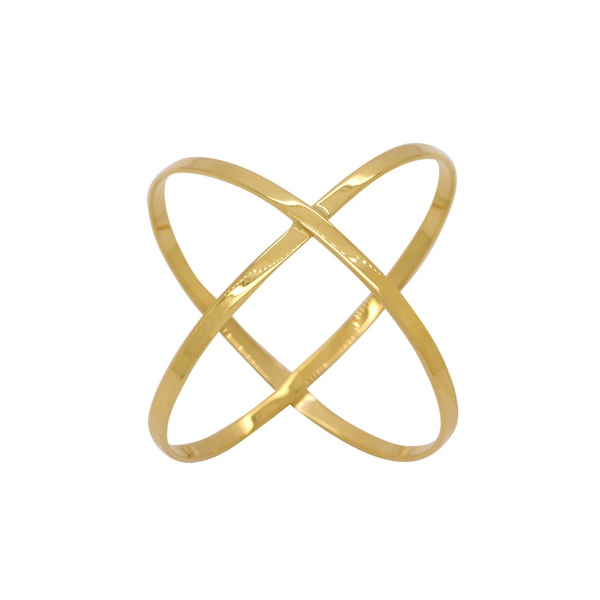 Anel X em Ouro 18k