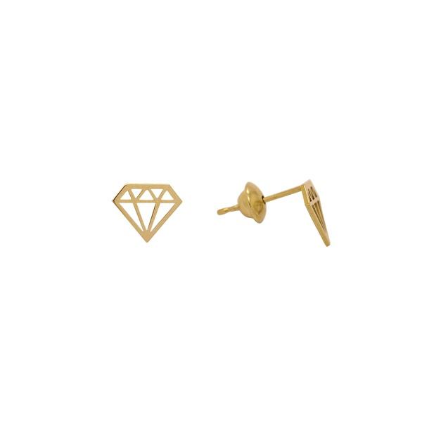 Brinco Diamante em Ouro 18k