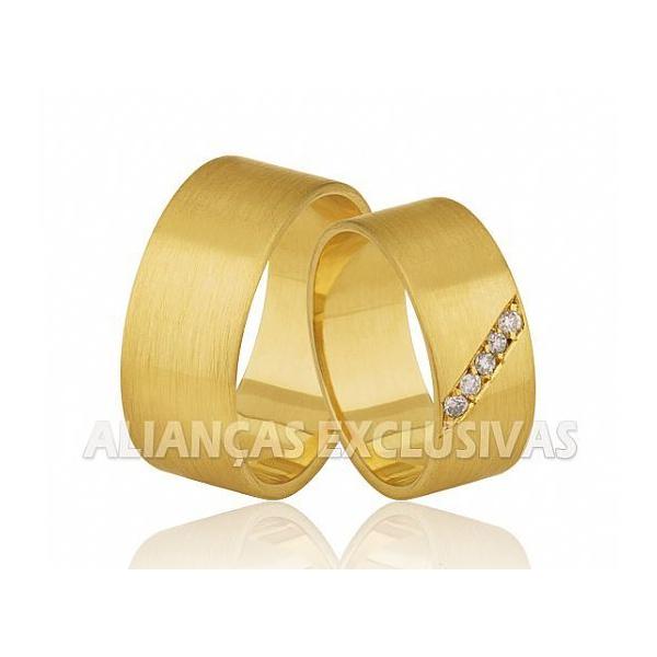 Alianças Grossas de Noivado e Casamento em Ouro 18k
