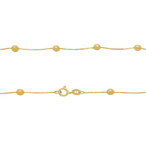 Corrente Veneziana com Bolinhas em Ouro 18k