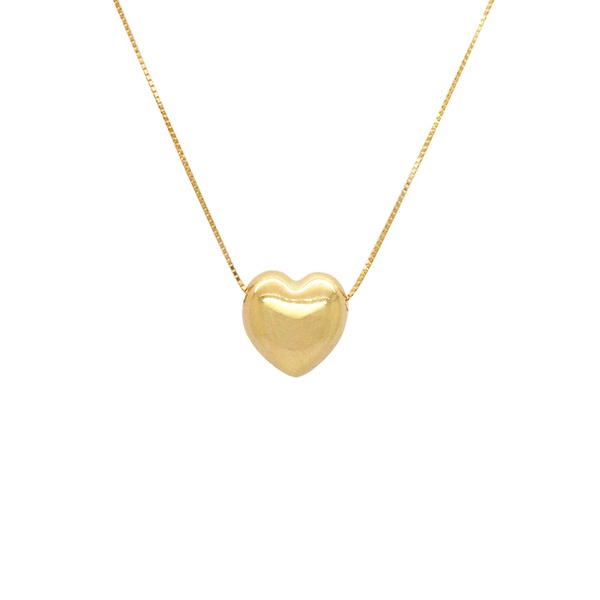Gargantilha Veneziana de Coração em Ouro 18k