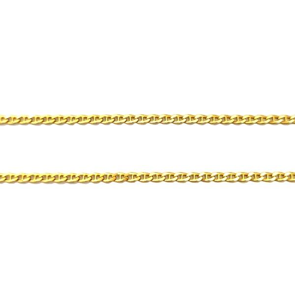 Corrente Piastrine Batida em Ouro 18k