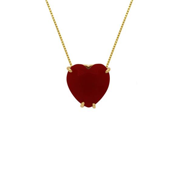 Gargantilha Coração em Ouro 18k