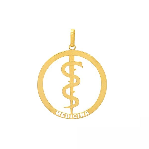 Pingente de Formatura Medicina em Ouro 18k