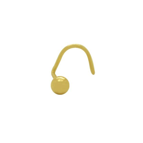 Piercing Bola de Nariz em Ouro 18k