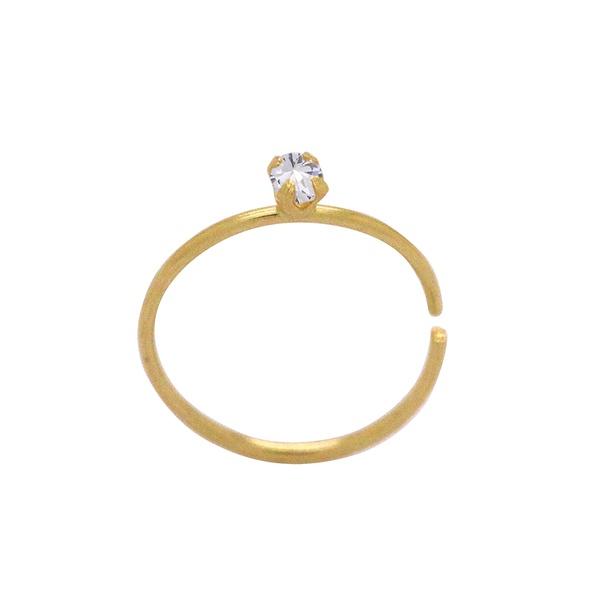 Piercing de Nariz Argola com Pedra em Ouro 18k