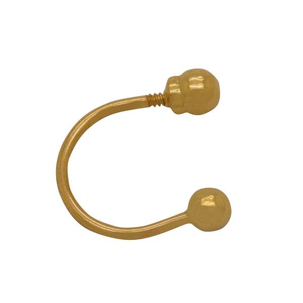 Piercing Curvado em Ouro 18k