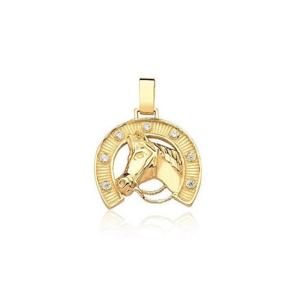 Pingente Ferradura de Cavalo em Ouro 18k