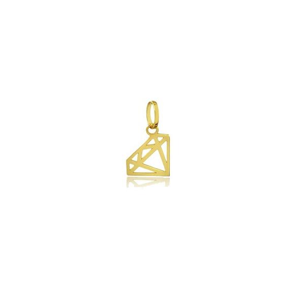 Pingente Diamante em Ouro 18k