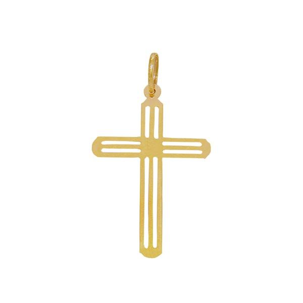 Pingente Cruz Vazada em Ouro 18k