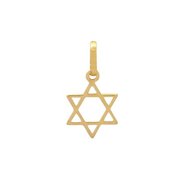Pingente Estrela de Davi em Ouro 18k