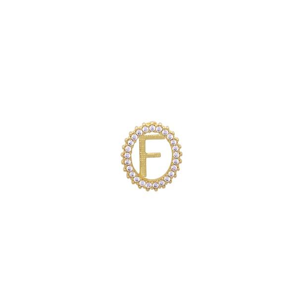 Pingente Inicial Letra Oval em Ouro 18k
