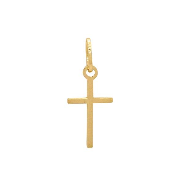 Pingente Cruz Palito Ouro 18k