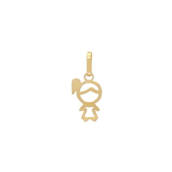 Pingente Vazado de Menina em Ouro 18k