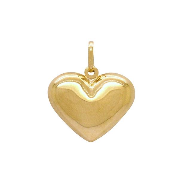 Pingente Coração Grande Ouro 18k