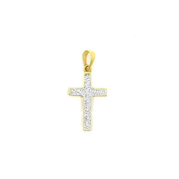 Pingente de Cruz em Ouro 18k