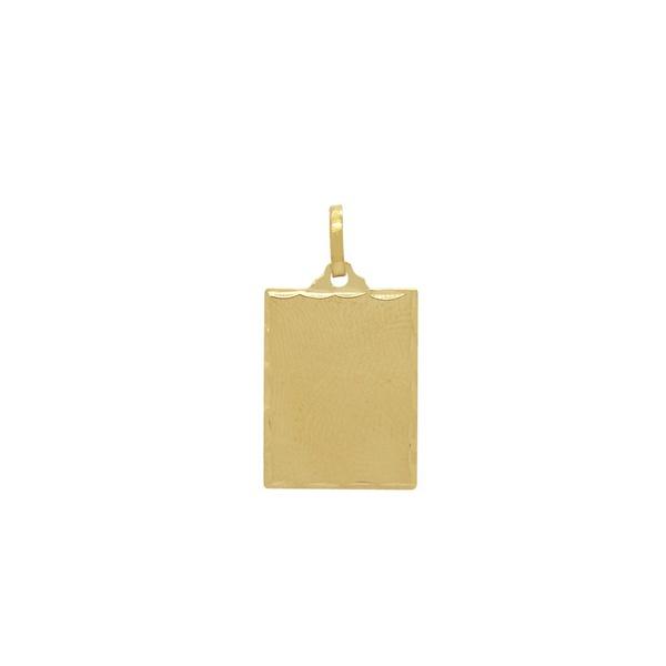Pingente Placa Retangular em Ouro 18k