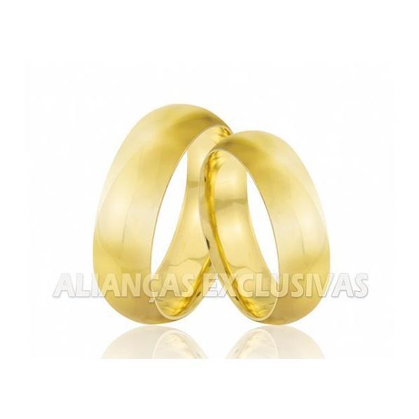 Aliança Larga Tradicional em Ouro 18k