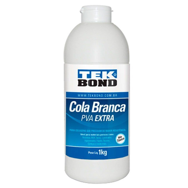 Cola De Alta Resistência Branca PVA Extra 1kg - Tekbond