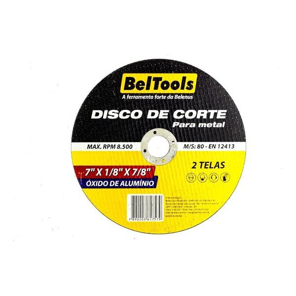 "Disco de Corte para Metal 7"" X 1/8"" X 7/8"" BelTools"
