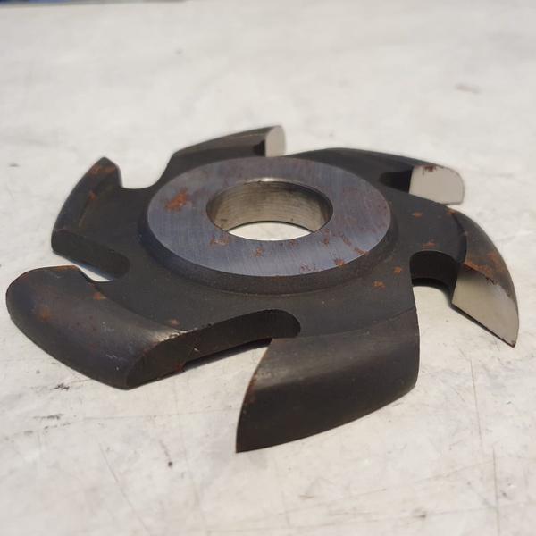 Fresa Para Contra Caixilho 125mm X 12mm 6 Asas Em Aço Fepam