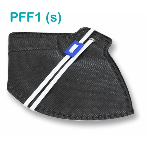 Respirador Descartável Tipo PFF1 (S) Preto - Kit com 10 un.