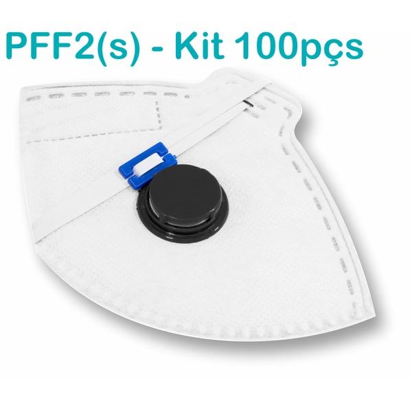 Respirador Descartável Tipo PFF2 (S) Branco com Válvula - Caixa com 100 un.