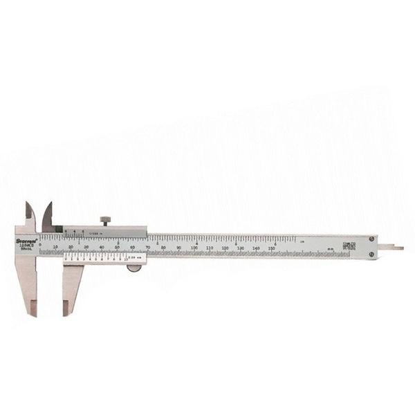 Paquímetro Inox Fosco Capacidade 0-150mm/0,02mm