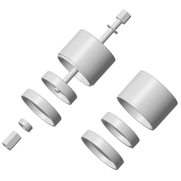 Ref-161013 Conjunto De Ferramentas Para Trocar Buchas Diâmetro 65 Ou 70mm Coxim Inferior Do Motor De Peugeot/citroen