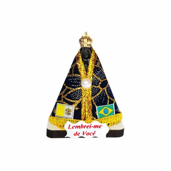 Imagem Nossa Senhora Aparecida com Base de Madeira