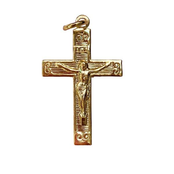Crucifixo Dourado 3,1x2 Centímetros