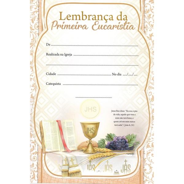 Lembrança 1ª Eucaristia Com Texto