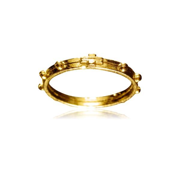 Anel Terço de Dedo Dourado