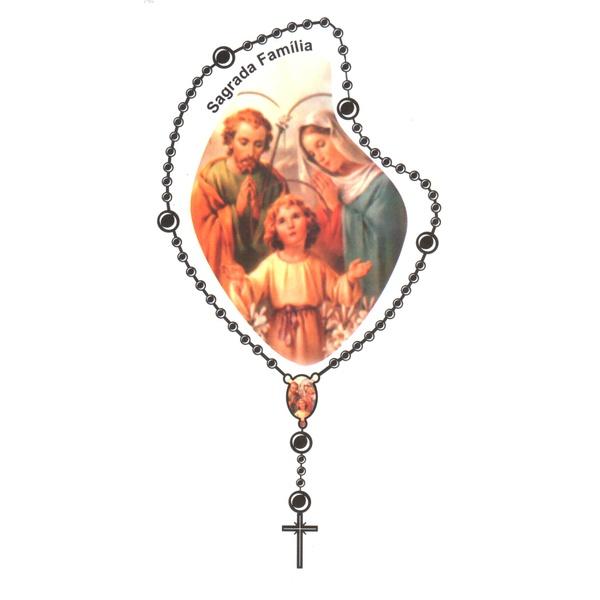 Adesivo Terço Médio Sagrada Familia