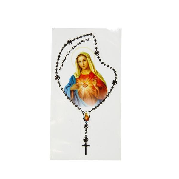 Adesivo Terço Pequeno Sagrado Coração de Maria