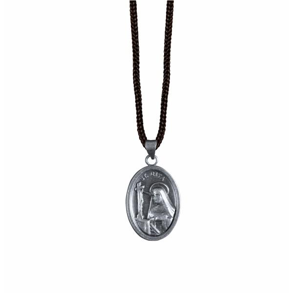Cordão com Medalha Oval Prata Velha ou Ouro Velho