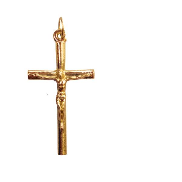 Crucifixo Tronco Dourado 4x2,2cm