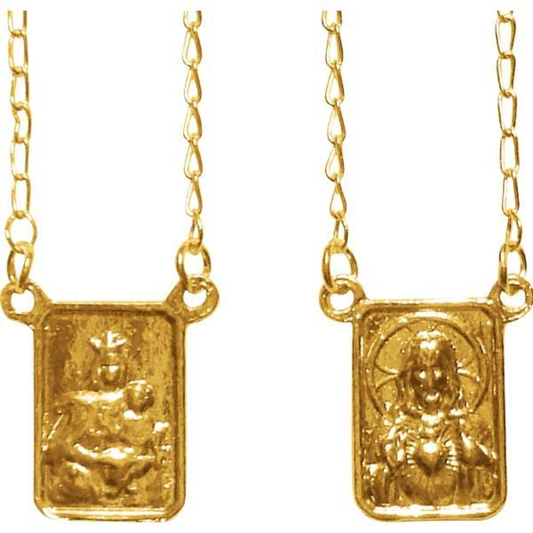 Escapulário Folhado à Ouro