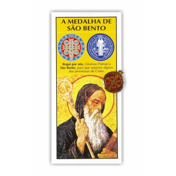 Medalha São Bento com Texto