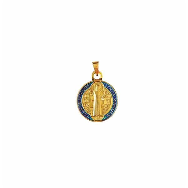 Medalha São Bento Resinada 18mm