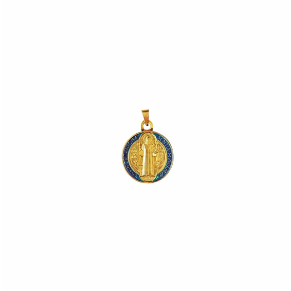 Medalha São Bento Resinada 14mm