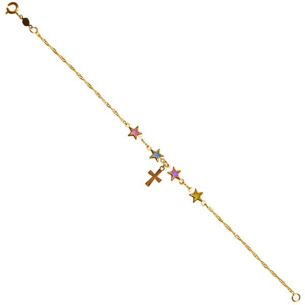Pulseira Folhada à Ouro Estrela