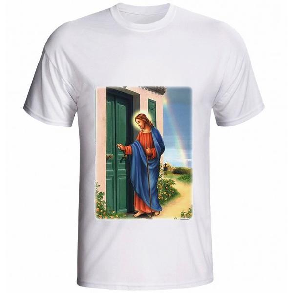Camiseta Jesus Batendo à Porta