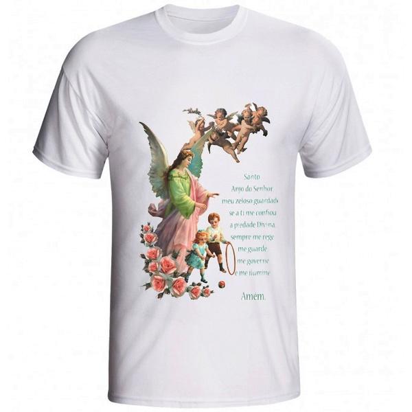 Camiseta Anjo da Guarda Oração
