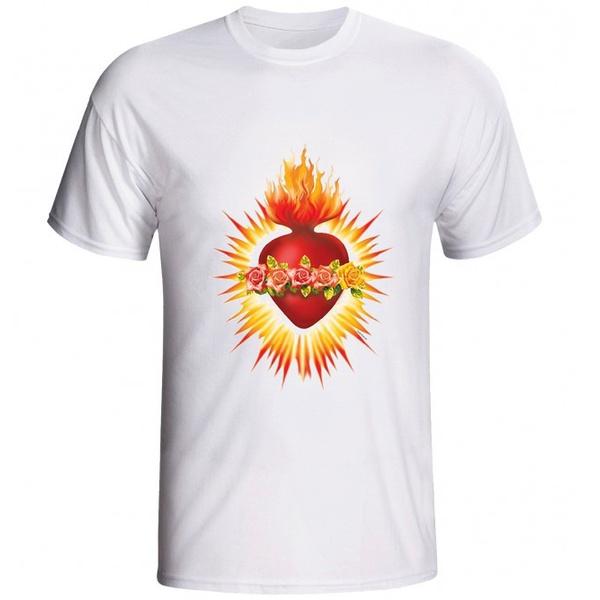 Camiseta Sagrado Coração de Maria - Coroa de Flores