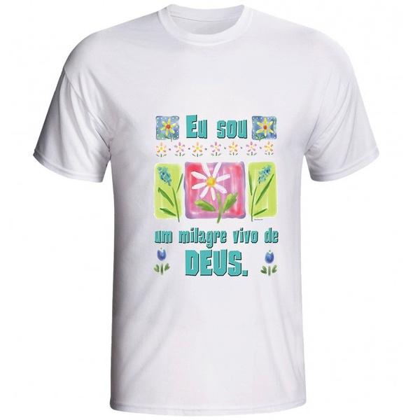 Camiseta Eu sou um Milagre Vivo de Deus