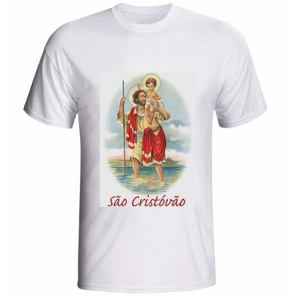 Camiseta São Cristovão Vermelho