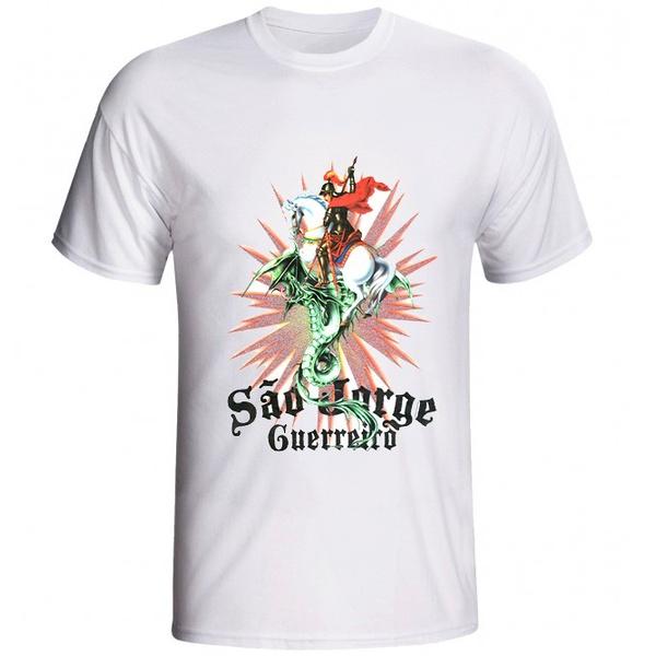 Camiseta Glorioso São Jorge Resplendor Gliter